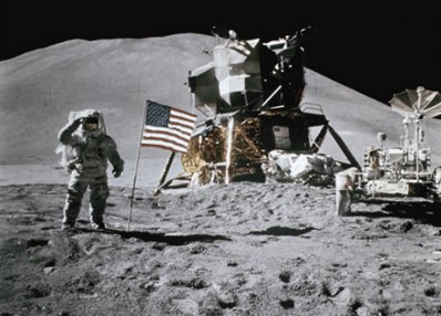 moon astronauts color photograph disability history america