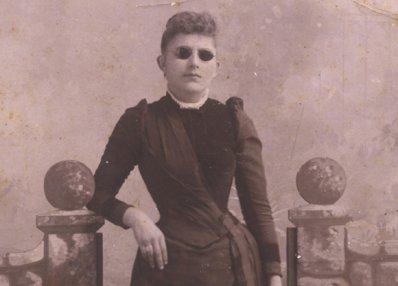 woman black white photograph disability history america