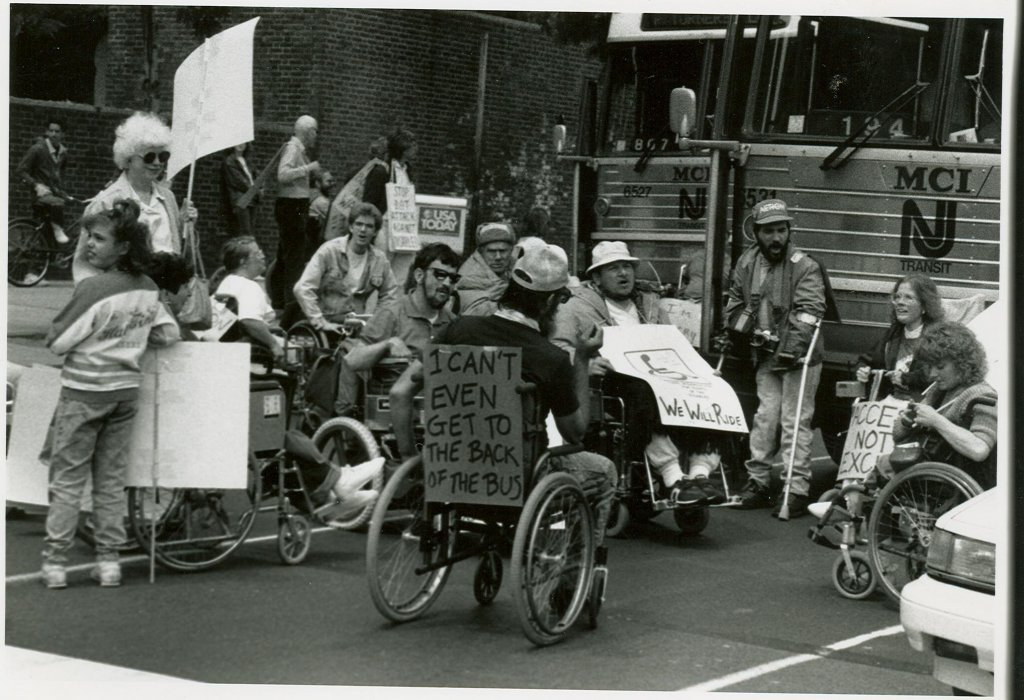 black white protesting photograph disability history america