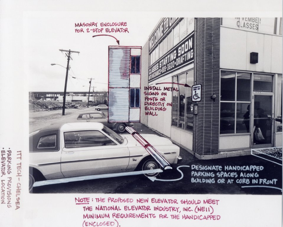 illustration of accessible parking disability history america