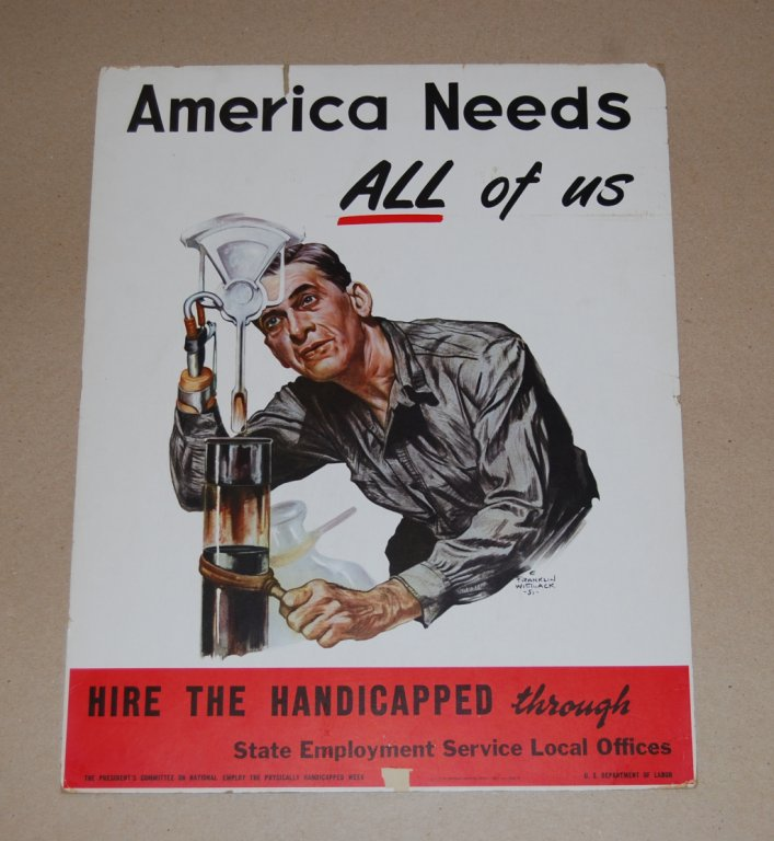 state employment service local offices poster disability history america