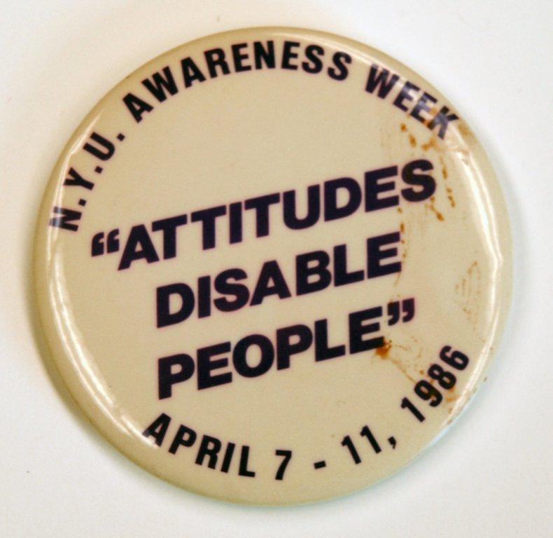 Attitudes Disable People button