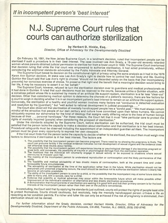 new jersey supreme court ruling paper disability history america