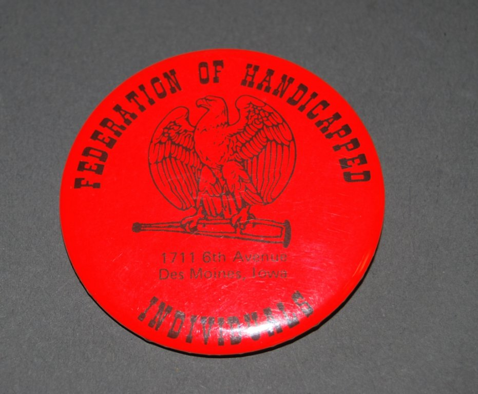 federation of handicapped button disability history america