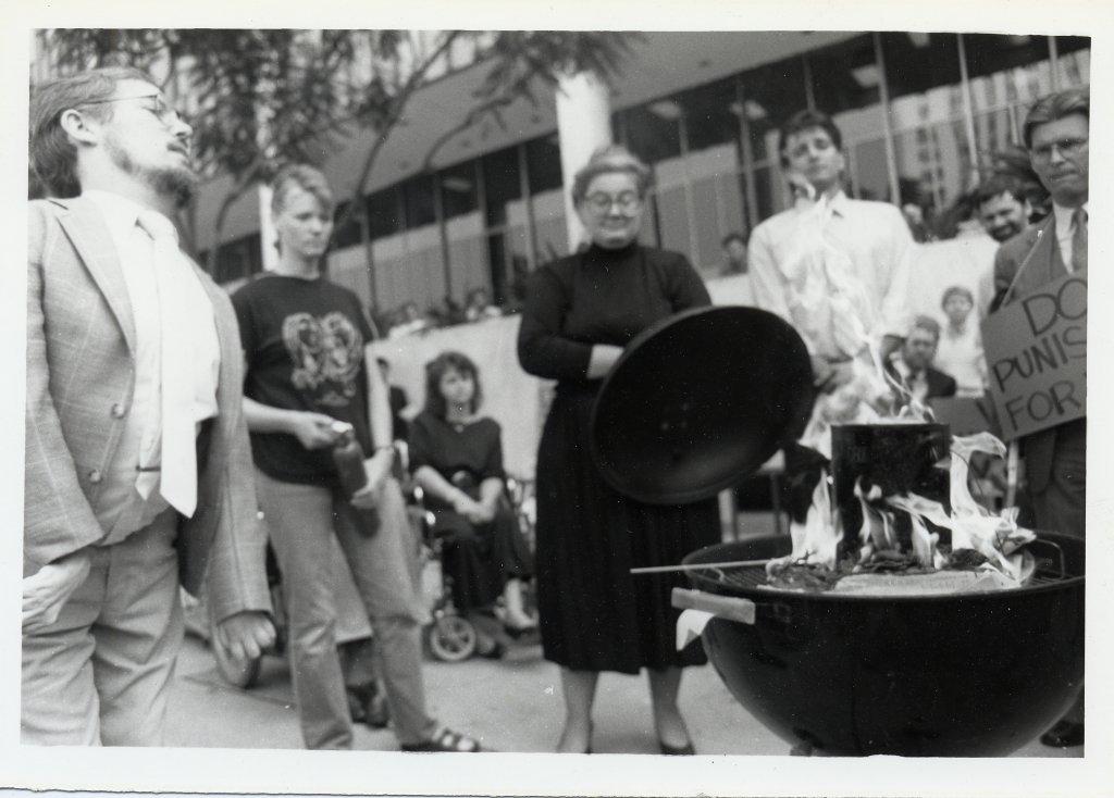 paul longmore book burn black white photograph disability history america