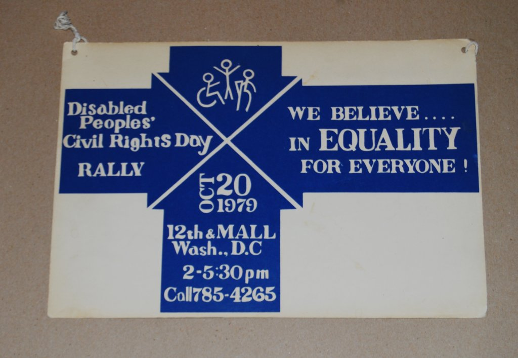 disabled peoples civil rights day rally poster disability history america