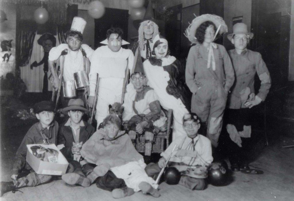 ben minowitz school children in costumes black white photograph disability america