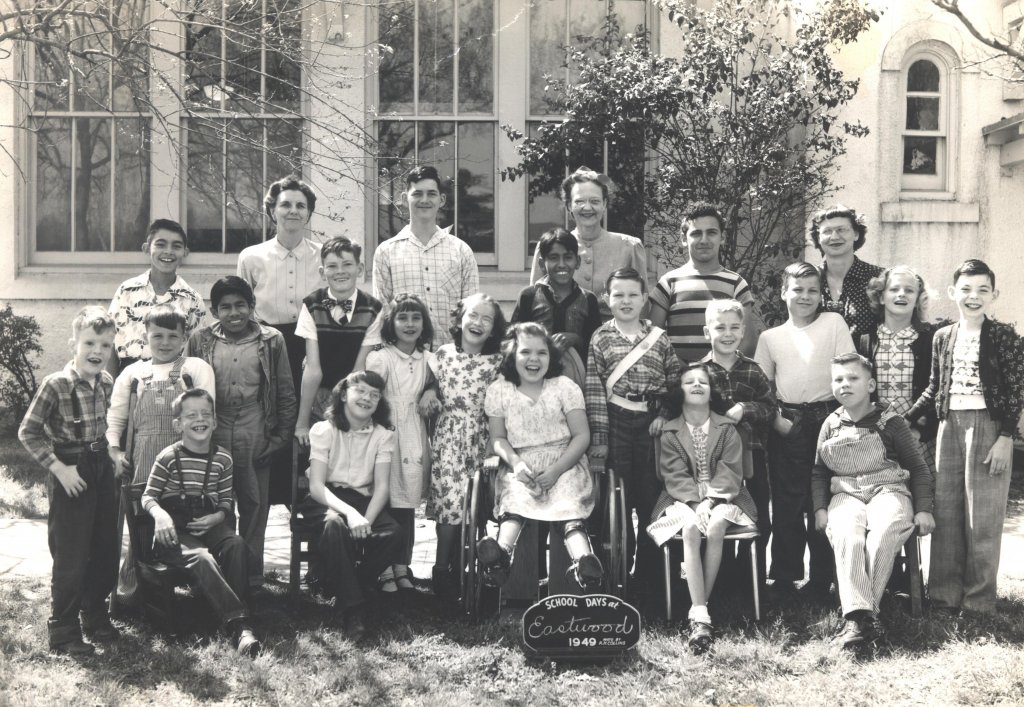 eastwood male female school children black white photograph disability america