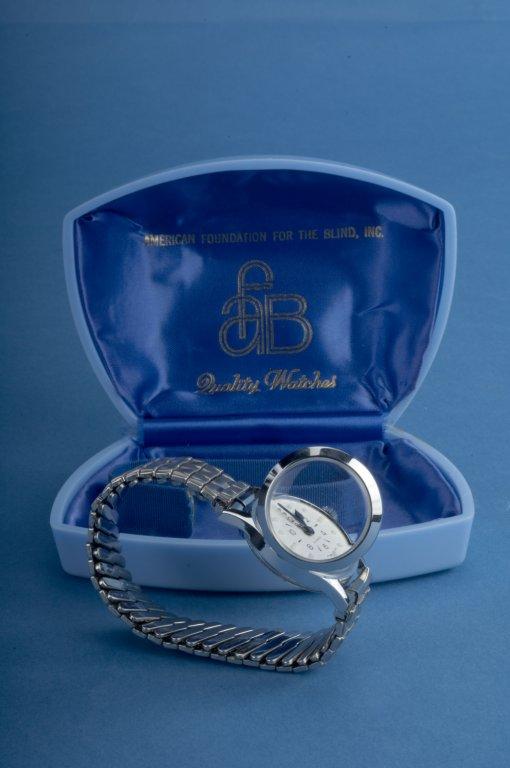Wristwatch in case
