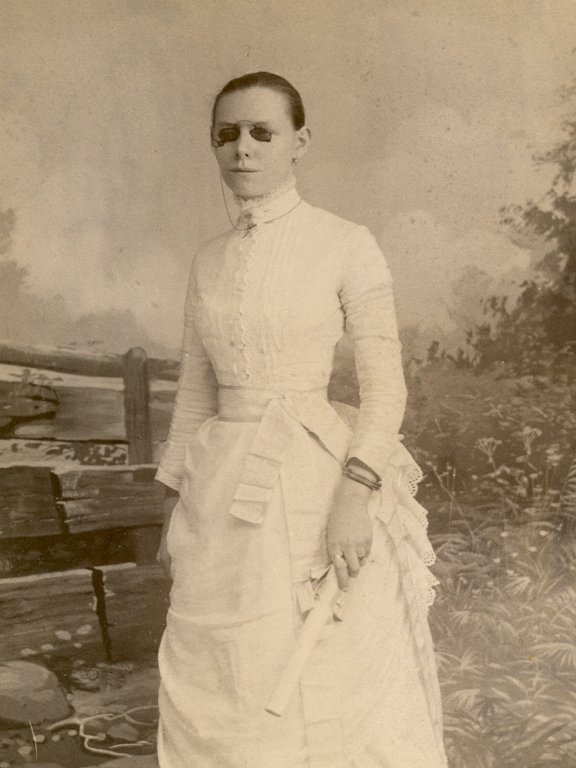 young woman sepia photograph disability history america