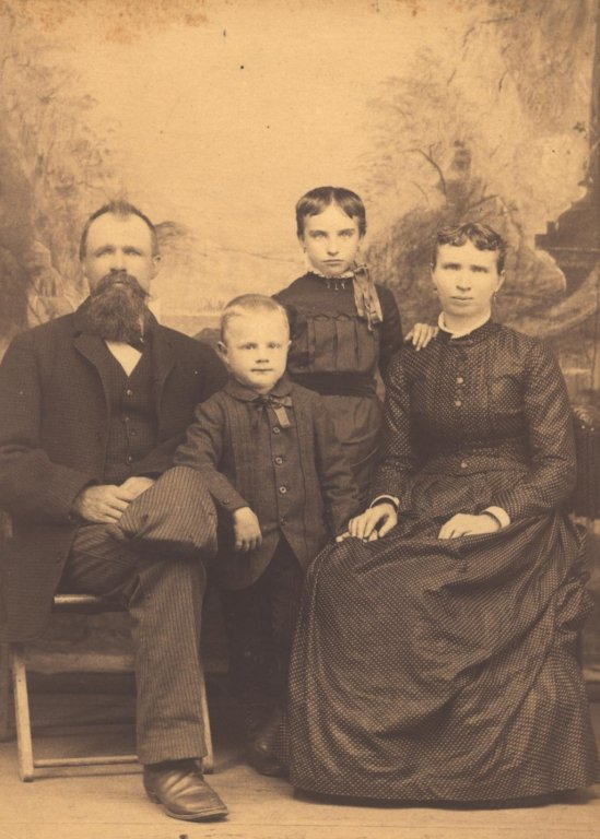 family sepia photograph portrait disability history america