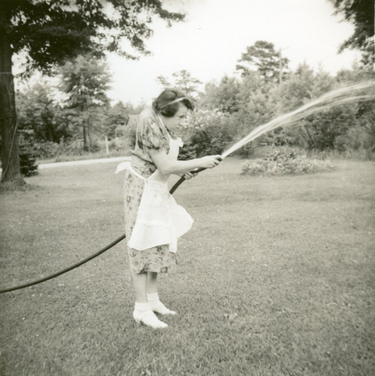 adult female waters lawn black white photograph disability history america