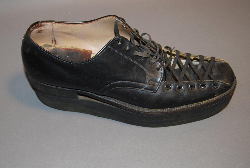 altered black shoe