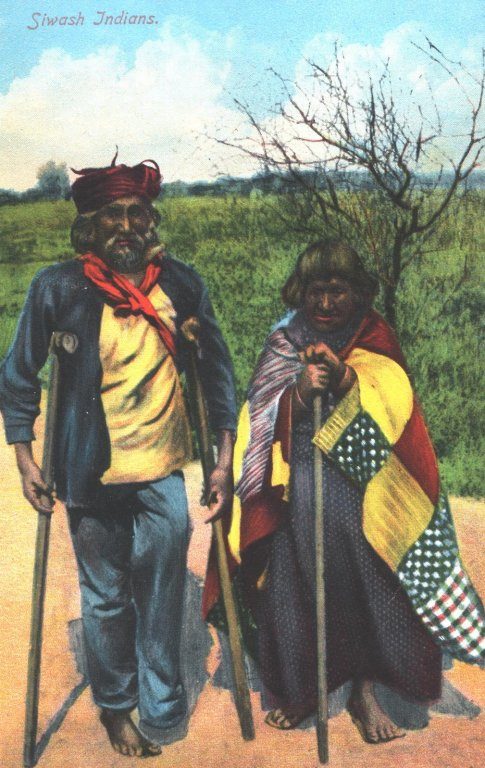 siwash indians color illustration disability history america