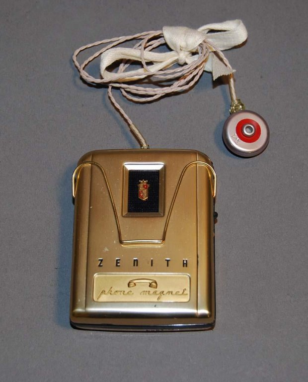 zenith phone magnet hearing aid disability history america