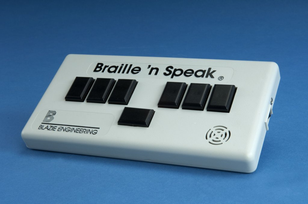braille speaking device disability history america