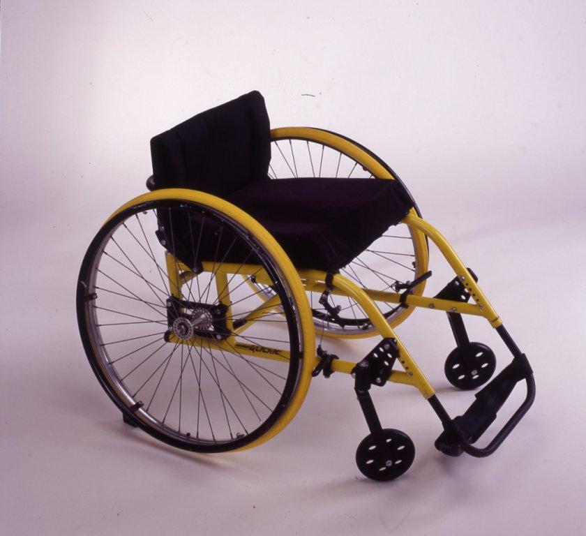 yellow wheelchair disability history america