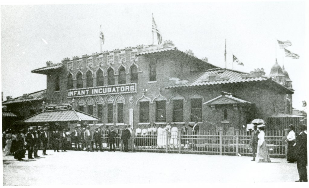 infant incubators building black white photograph disability history america