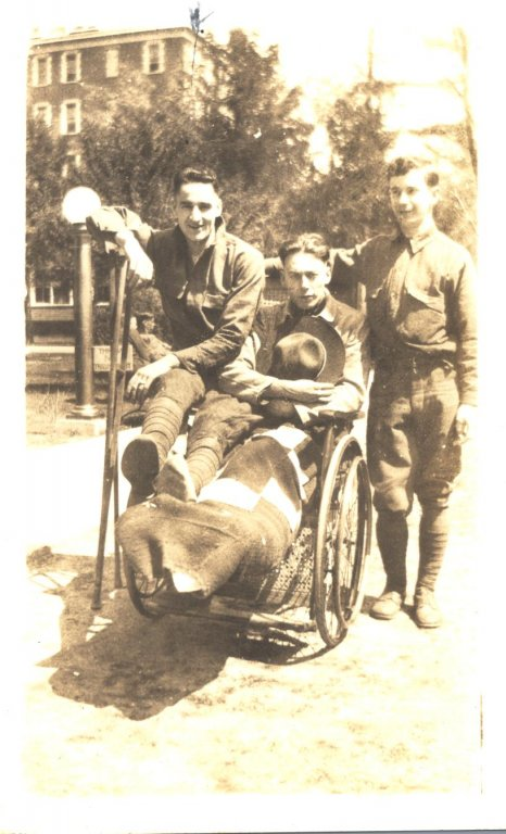 young men in sepia photograph disability history america