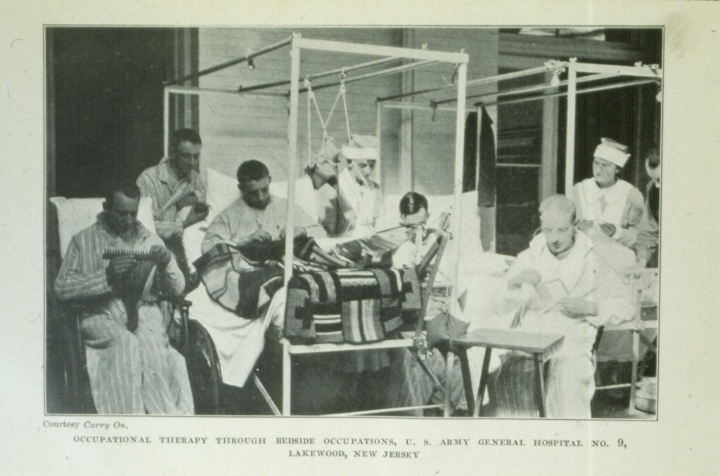 black white photograph occupational therapy disability america