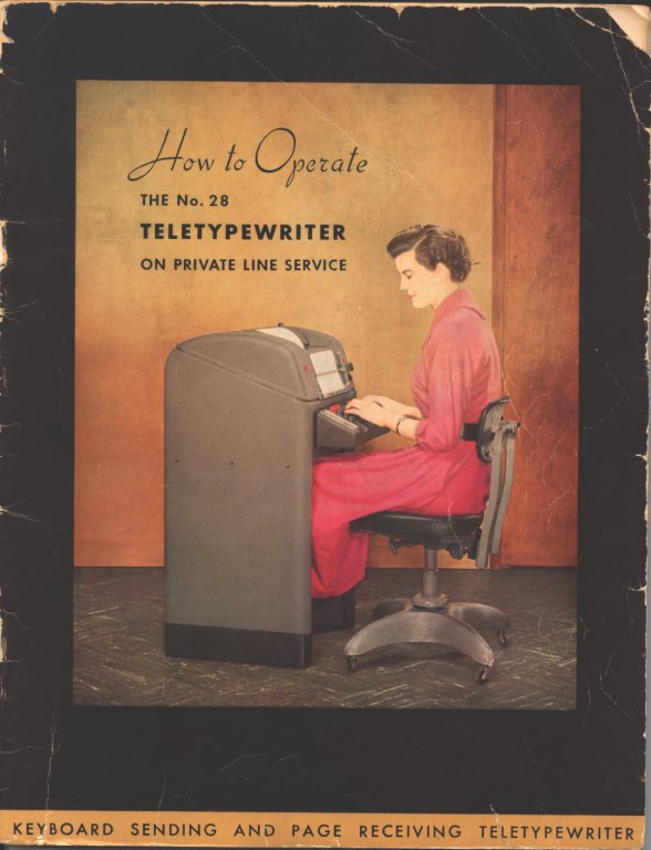 teletypewriter owner manual cover color illustration disability history america