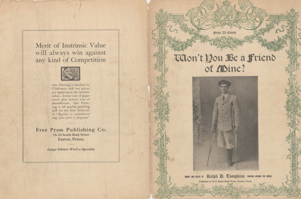 won't you be a friend of mine used music sheet disability history america