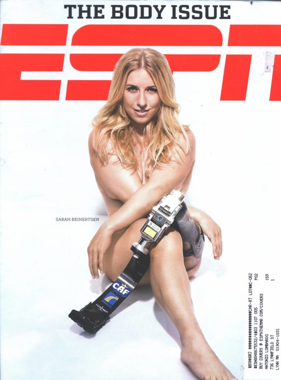 ESPN magazine cover featuring athlete Sarah Reinertsen