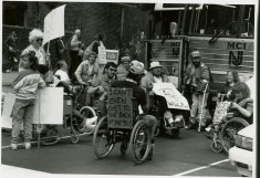 black white protesting photograph disability history america