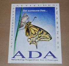 a d a poster disability history america