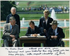 president bush evan kemp justin dart signing a d a disability history america
