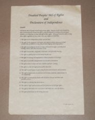 disabled peoples bill of rights and declaration of independence poster disability history america