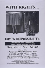 black white voting poster disability history america