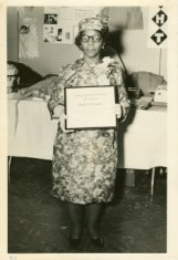 mattie vaughn displaying award black white photograph disability history america