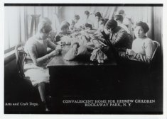 convalescent home for hebrew children making dolls disability history america