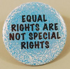 Equal Rights are not Special Rights button