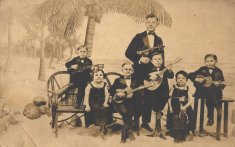 formal musicians sepia photograph disability history america
