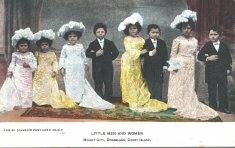 formal dress men and women color photograph disability history america