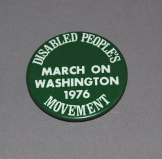 Disabled People's Movement March on Washington button