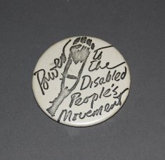 power to the disabled peoples movement button disability history america