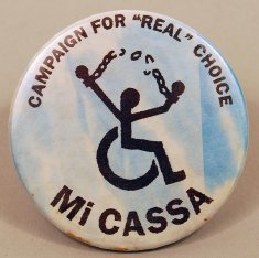 mi cassa button disability history america