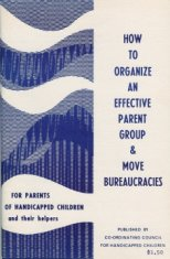 book cover for parents of handicapped children disability history america