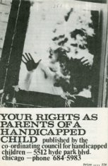 your rights as parents of a handicapped pamplet disability history america