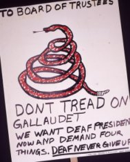gallaudet protest poster disability history america