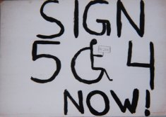 504 sign disability history america