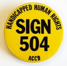 yellow 504 button disability history america