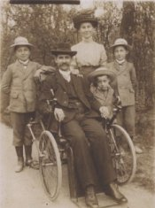 family sepia photograph disability history america