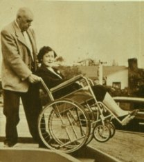 woman man sepia photograph disability history america