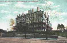 perkins school for the blind color illustration