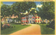 shrine hospital for crippled children color illustration disability history america