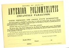 polio quarantine sign disability history america